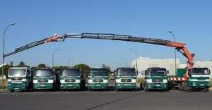 Flota de camiones grúa de Grúas Agudo